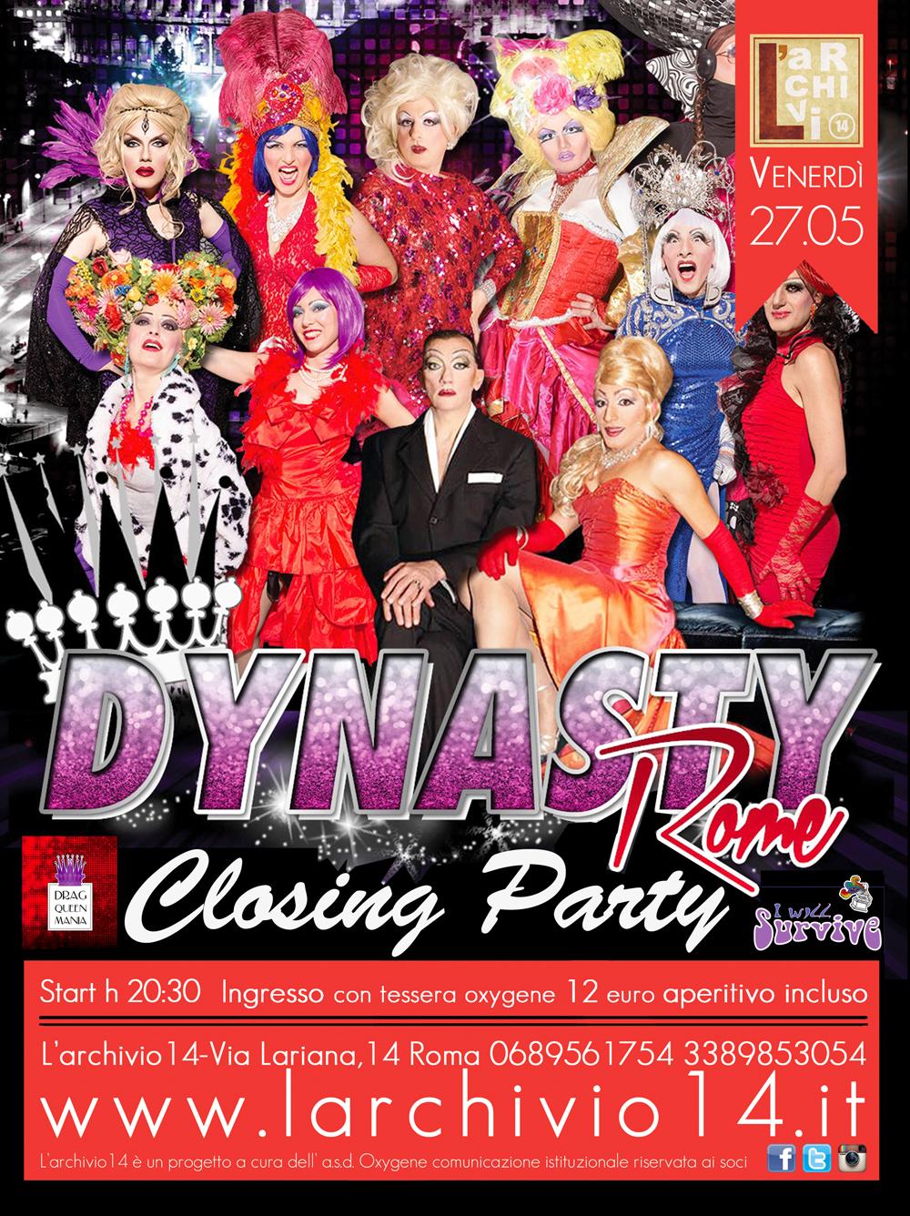 Closing Party </br> 27 maggio ore 20:30