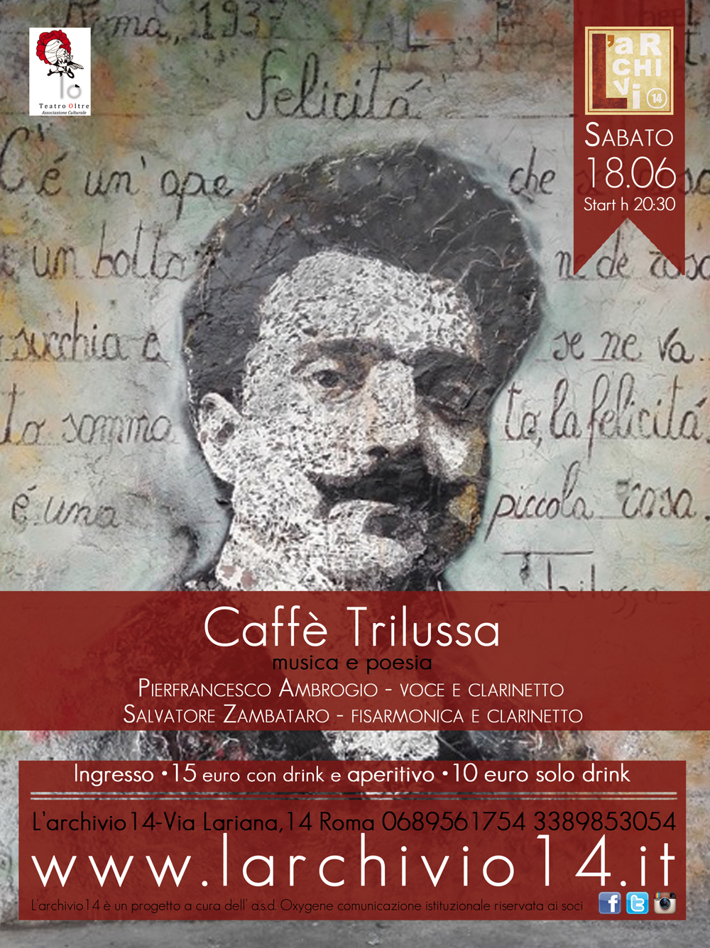 Caffè Trilussa </br> 18 giugno ore 20:30