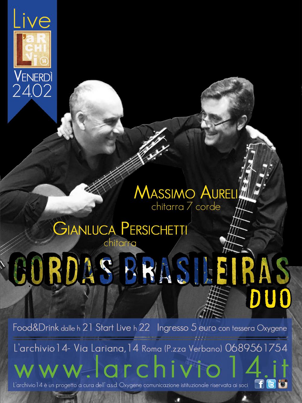 Cordas Brasileiras duo </br> 24 febbraio ore 22