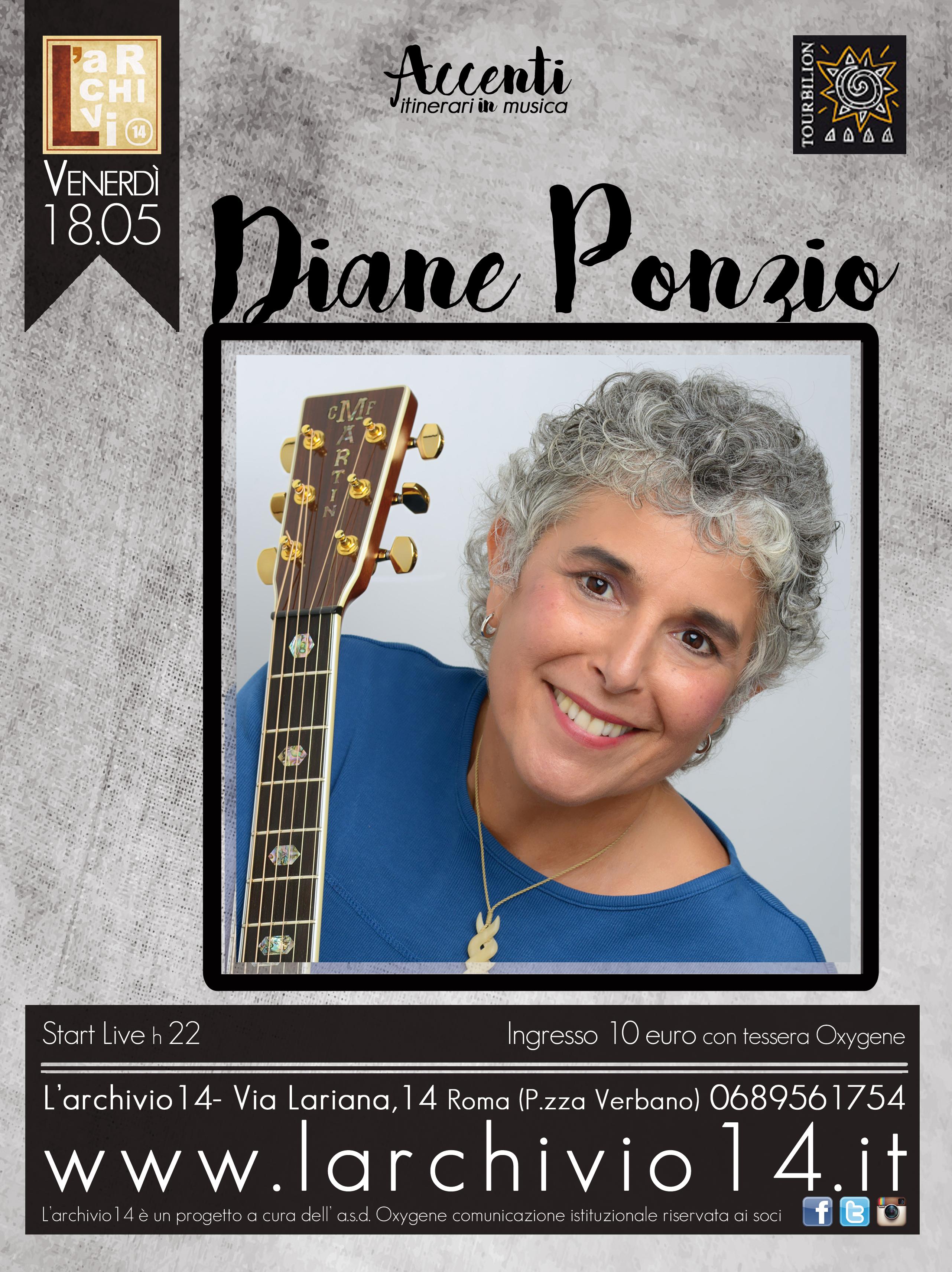 Diane Ponzio </br> 18 maggio ore 22