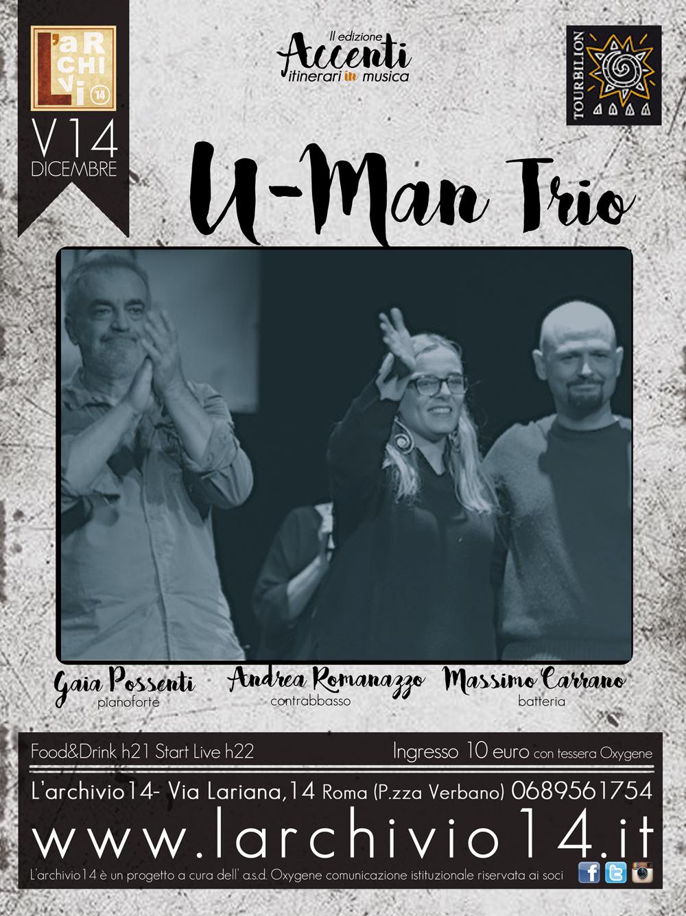 U-Man Trio </br> 14 dicembre h 21