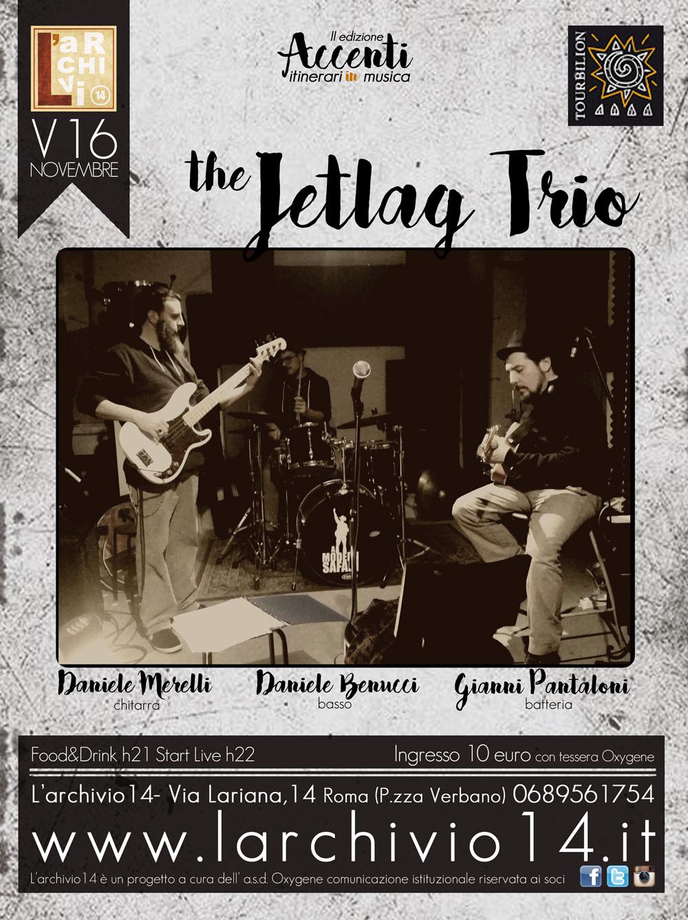 The Jetlag Trio </br> 16 novembre h 21